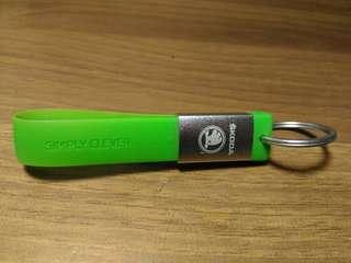 🚚 Skoda 螢光綠 鑰匙圈 隨身碟 8g 近全新