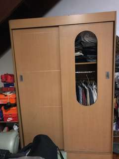 Big Closet with 6 shelves and hanging rack