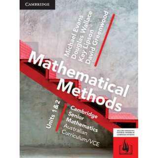 Cambridge Math Methods Unit 1&2