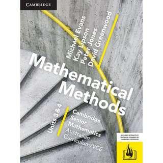 Cambridge Maths Methods Unit 3&4