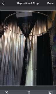 Silver & black curtains with crystal details Gatzby style