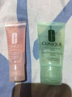 Clinique facial soap and moisture surge