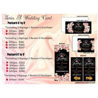 Wedding Card and Wedding Favors Packages