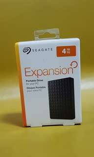 Seagate 4TB Expansion USB 3.0 USB 2.0 Portable Drive (New)