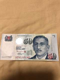 Missing - $50 Note