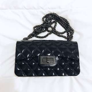 Black Jelly Chain Bag