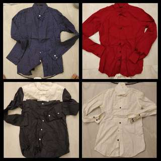 Men's shirt assorted size S slim fit. $90for all