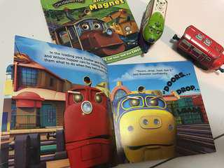 Chuggington picture books with toy trains