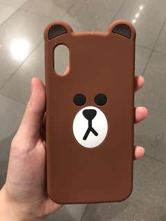 Line Brown Iphone X Casing
