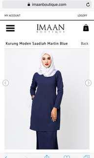 Imaan Boutique Kurung Moden Saadiah - Merlin Blue