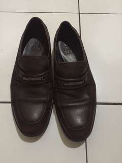 Sepatu pantofel kulit leather shoes us polo assn