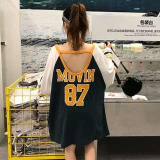 Korea loose s casual sports  long-sleeved T-shirt