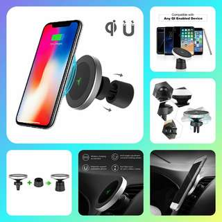 Magnetic Wireless Car Charger Air Vent Mobile Phone Holder