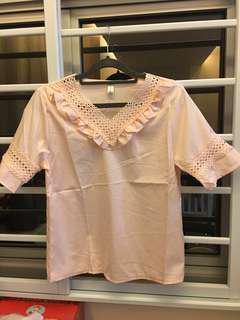 Light pink crochet top