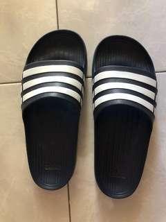 Men's Adidas Navy Slides Size 8