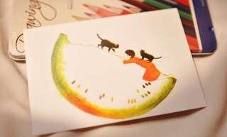 (Instock) Summer Watermelons Postcards