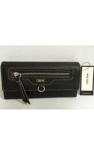 NINE WEST Front Pocket SLG Clutch Walleti  in Black,