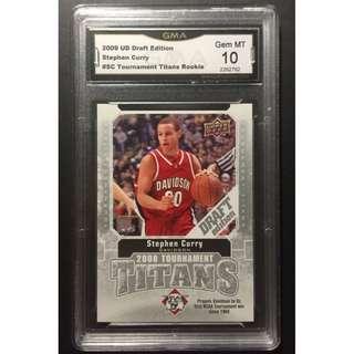 Stephen Curry Rookie Card 2009 Tournament Titans Original