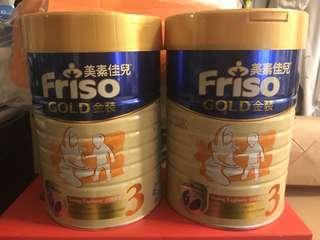 「現貨」有兩罐,$220@1罐,美素佳兒金裝3號奶粉 900g FRISO Gold 3 Growing-Up Milk