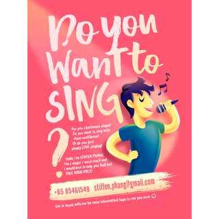 Private vocal lesson