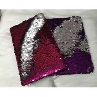 [INSTOCK} Creative Hot Pink/Purple Reversible Sequins Notebook