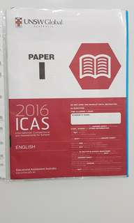 ICAS ENGLISH 2016 PAPER I C/W ANSWER SHEET FOR SECONDARY 4&5