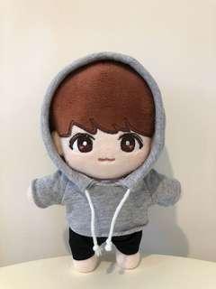 BTS 防彈少年團 灰色hoodie(不連褲子)