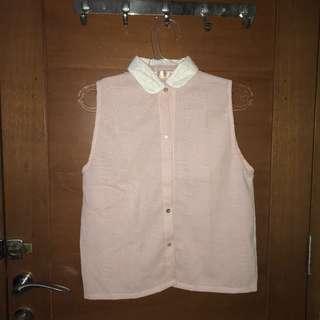 crochet pink shirt