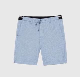 pique chino style bermuda short (blue)