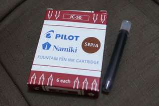 Pilot ink cartridge sepia