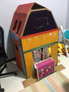 Cardboard Playhouse/Dollhouse (For blessing)