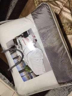 Bed Cover set Putih Salur