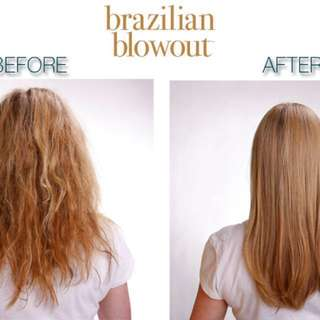 Hair Rebond + Brazilian Blowout for smooth, frizz-free hair with radiant shin