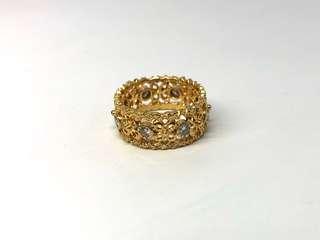 Gold 750 18k Diamond Ring 5.3g