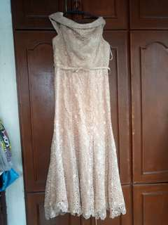 Prada lace gown (plus size) used once