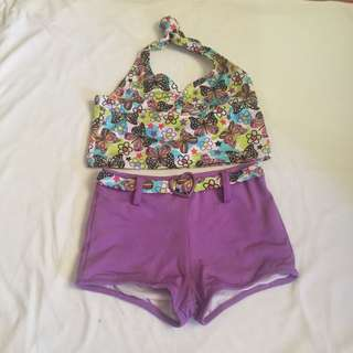 Tankini swimwear for little girls