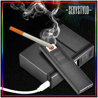 🚚 #51▪📦▪(🅿re🅾rder)▪📦▪ Cigarette Lighter USB Charging 20 Packings Flip Cigarette Case