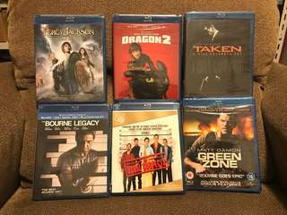 Brand new sealed blu rays from amazon
