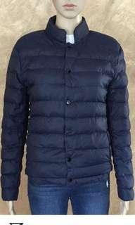 Navy blue lightweight bubble jacket