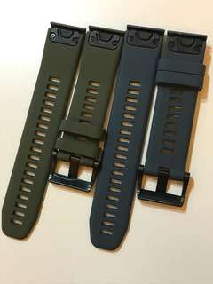 Garmin 935 快拆膠表帶 2條 軍錄 海藍