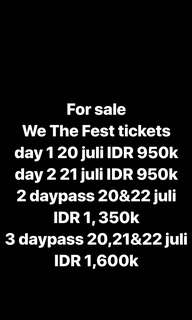 FOR SALE WTF TICKET