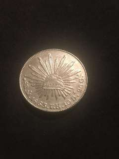 1863 Mexican Silver 8 Reales