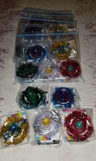 爆旋陀螺BG-09 日本限量扭蛋陀螺面1 set 5個,每Set$250