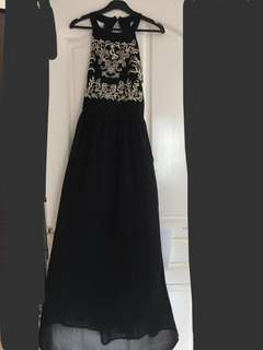Sexy black dinner dress