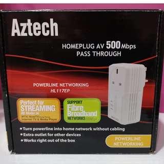 Aztech HomePlug 500 Mbps HL117EP