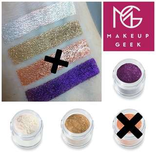 MAKEUP GEEK SPARKLERS/GLITTER PIGMENTS