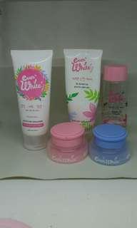 Paket EverWhite lengkap + body cream masih baru
