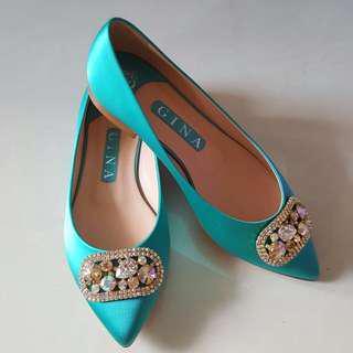 NEW Gina Flats Turquoise UK5/EU38