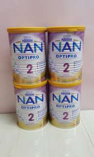 4 tins of Brand New Nestle Nan Optipro Stage 2 400g