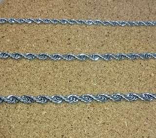 🚚 鋼項鍊 不退色 麻花鍊均一價